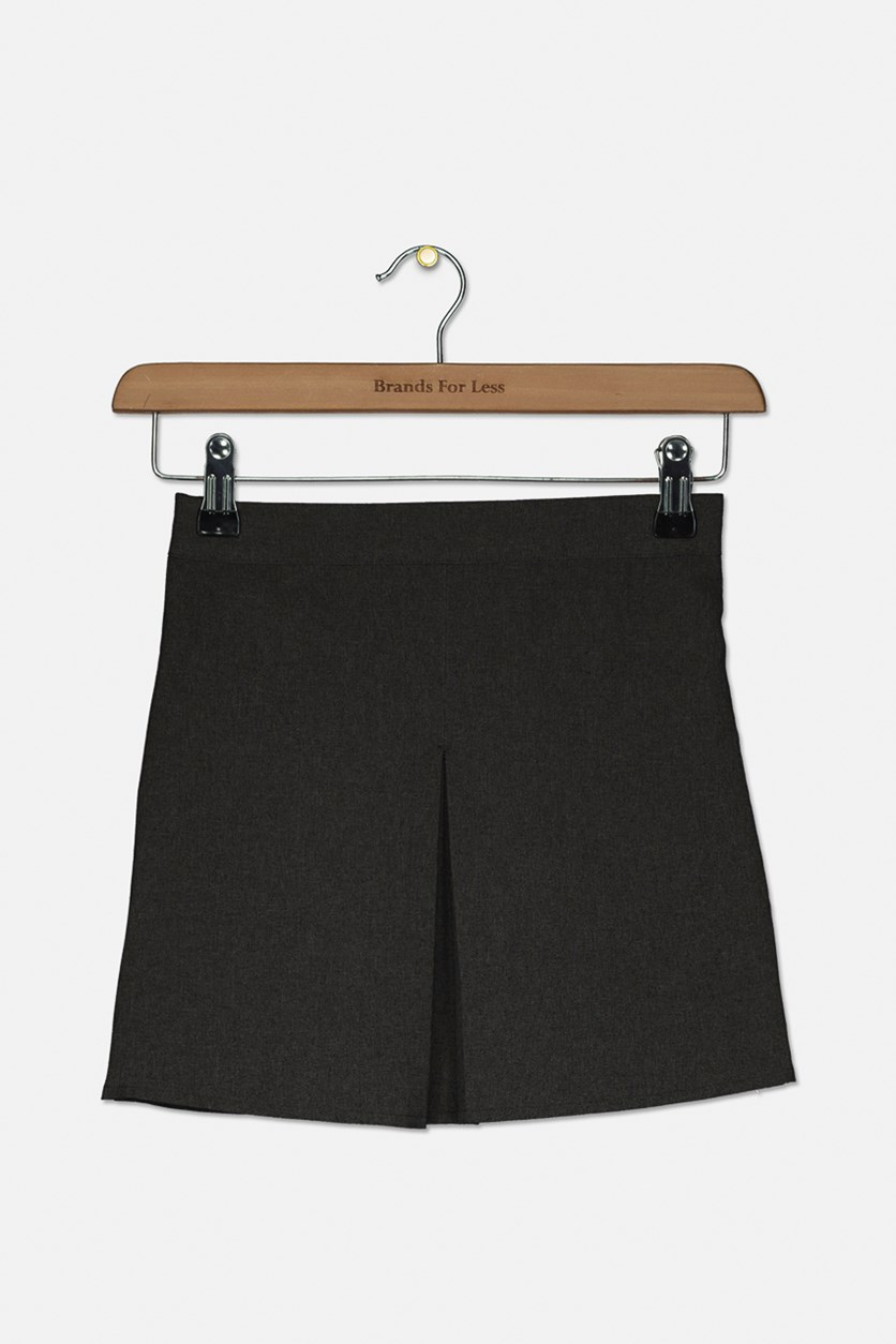 Little Girl's Adjustable Waist Skirt, Charcoal