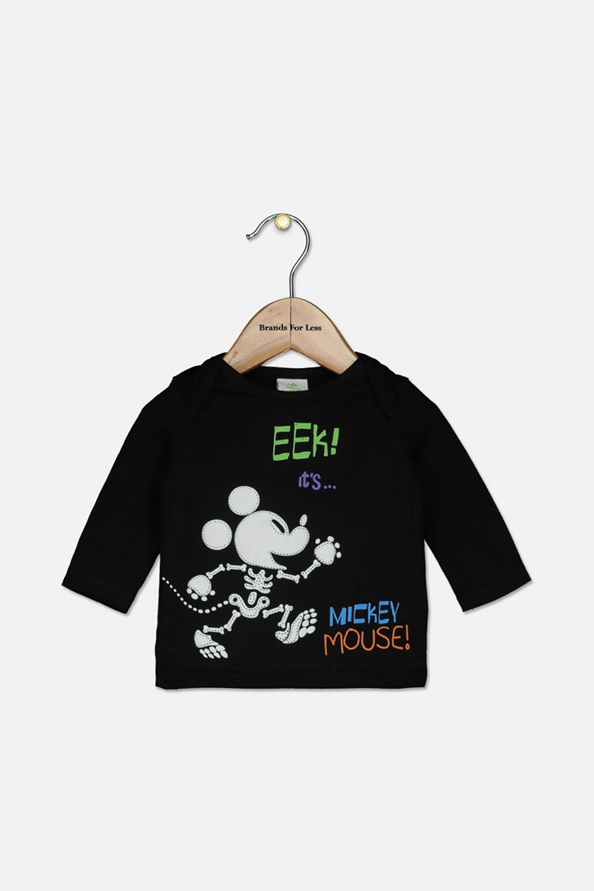 Baby Boys Mickey Mouse Graphic Top, Black