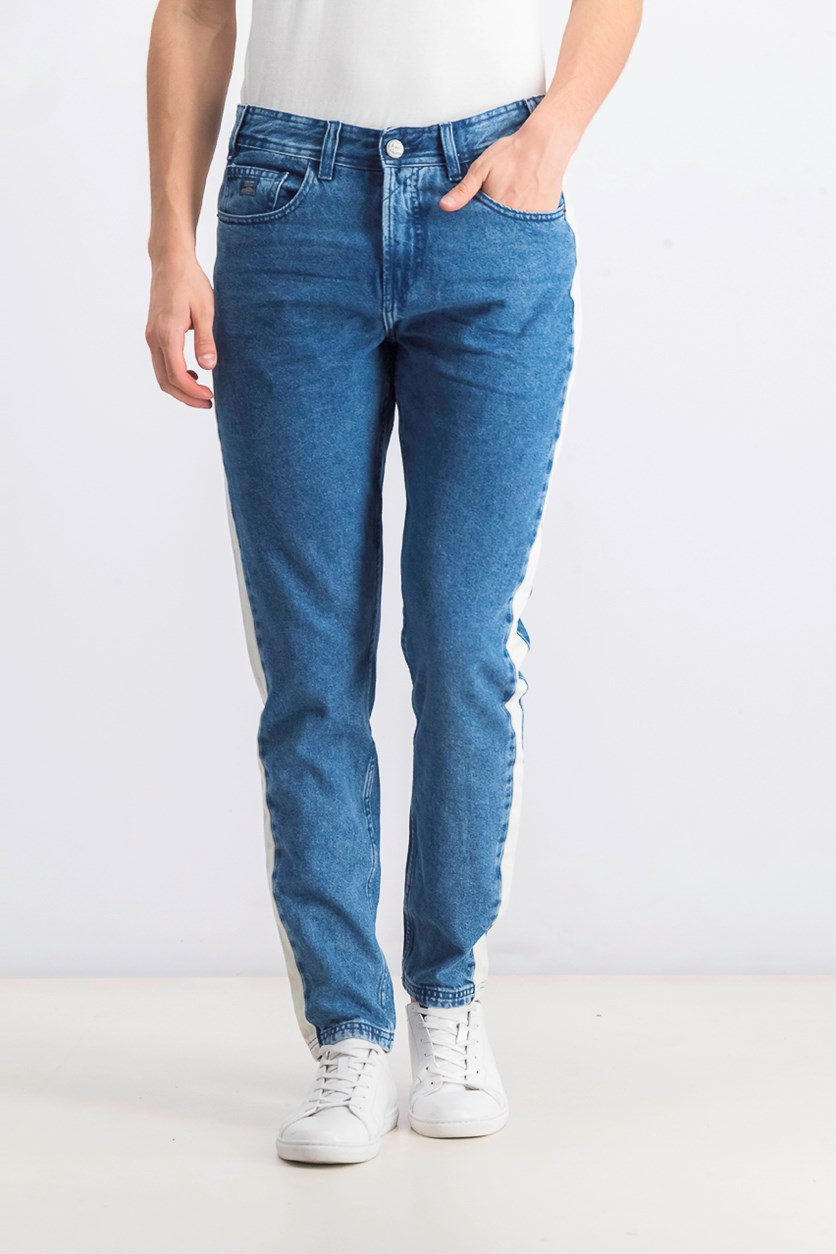 Men's Carrot Salcedo Denim Jeans, Blue/Cream