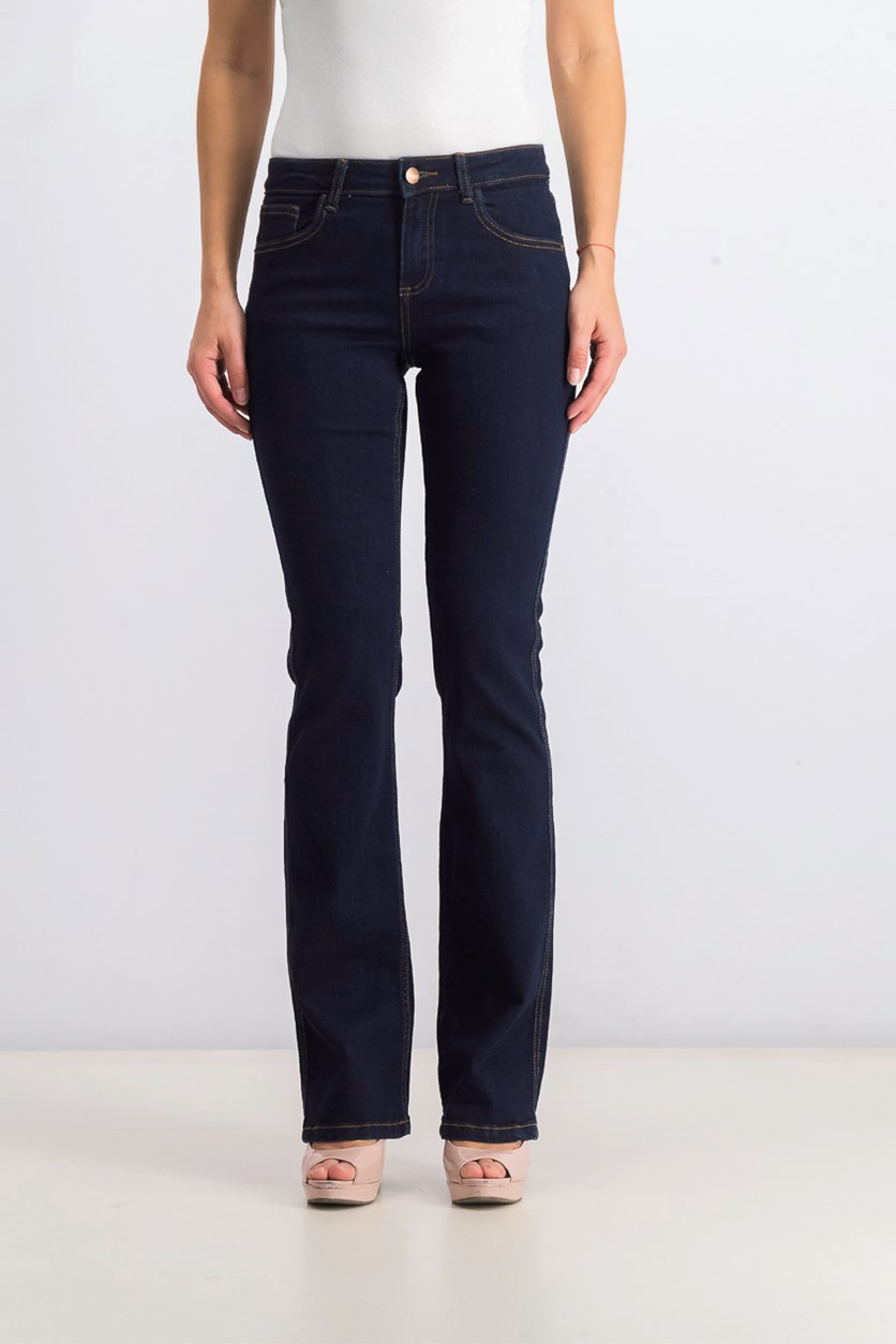 Women's High Waisted Flare Jeans, Navvy