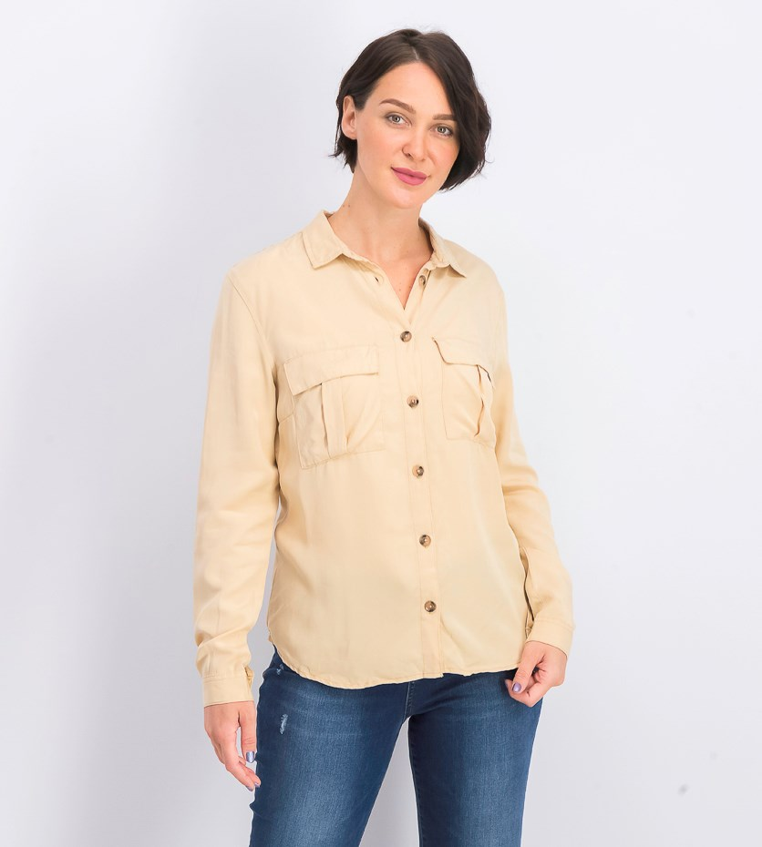 Women's Front Pocket Top, Khaki