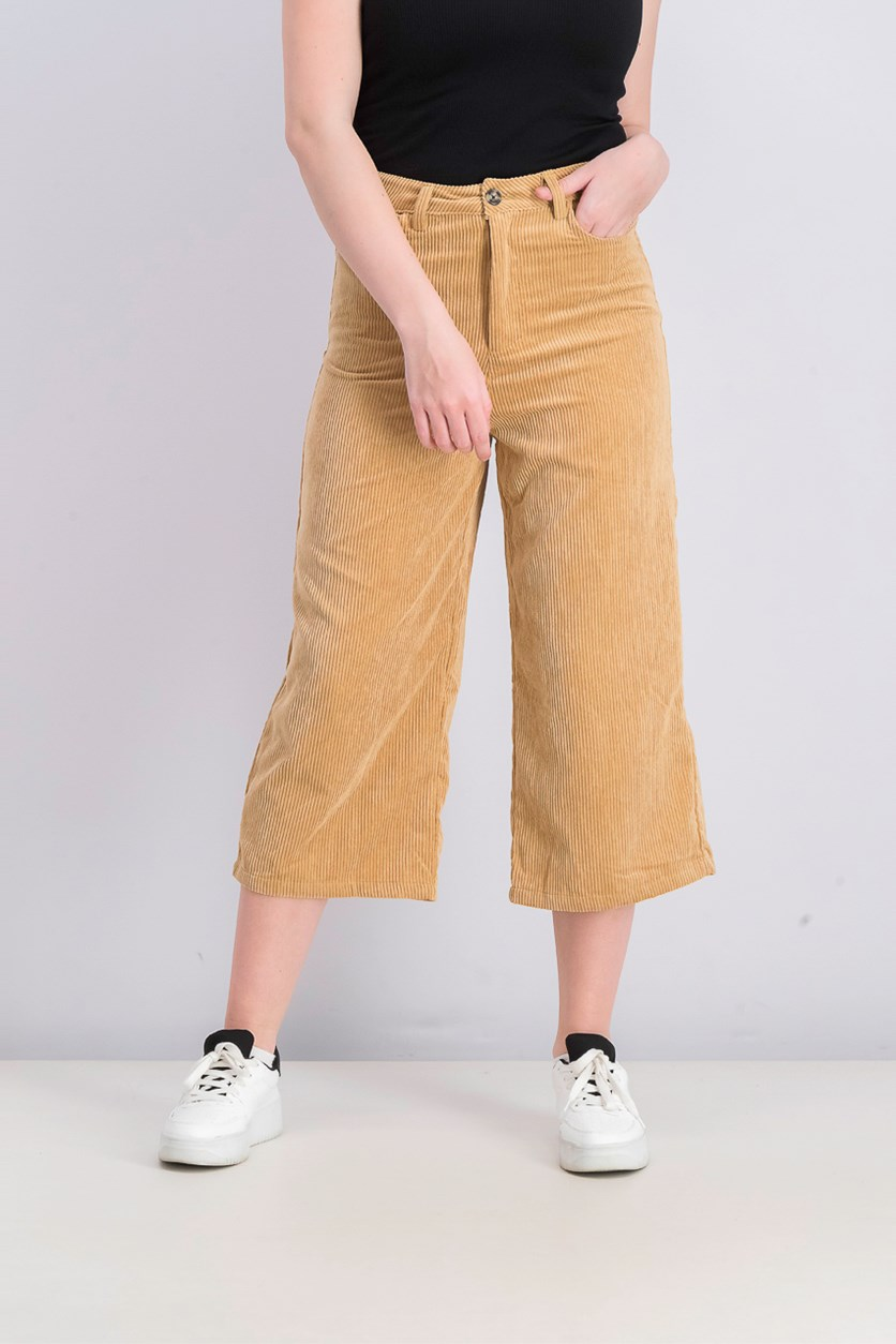 Women's Curdoroy Pants, Light Brown