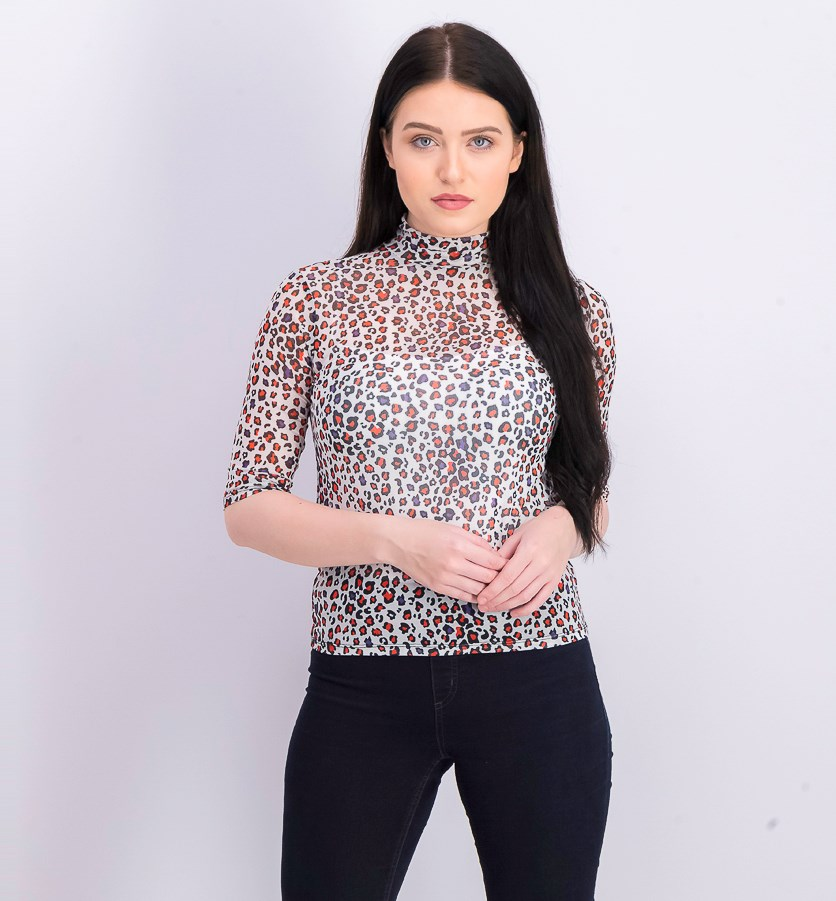 Women's Pullover Printed Tops, White Combo