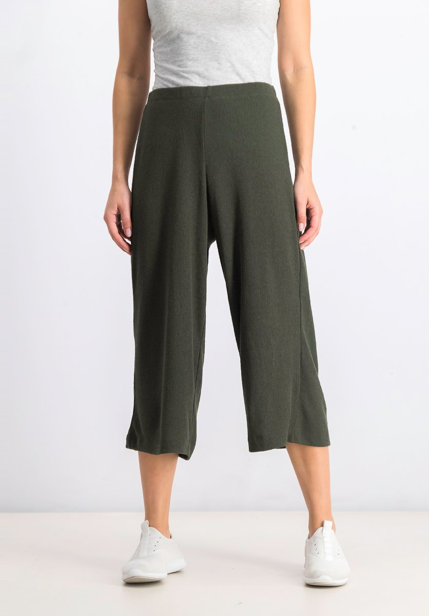 Women's Pull-On Pants, Green
