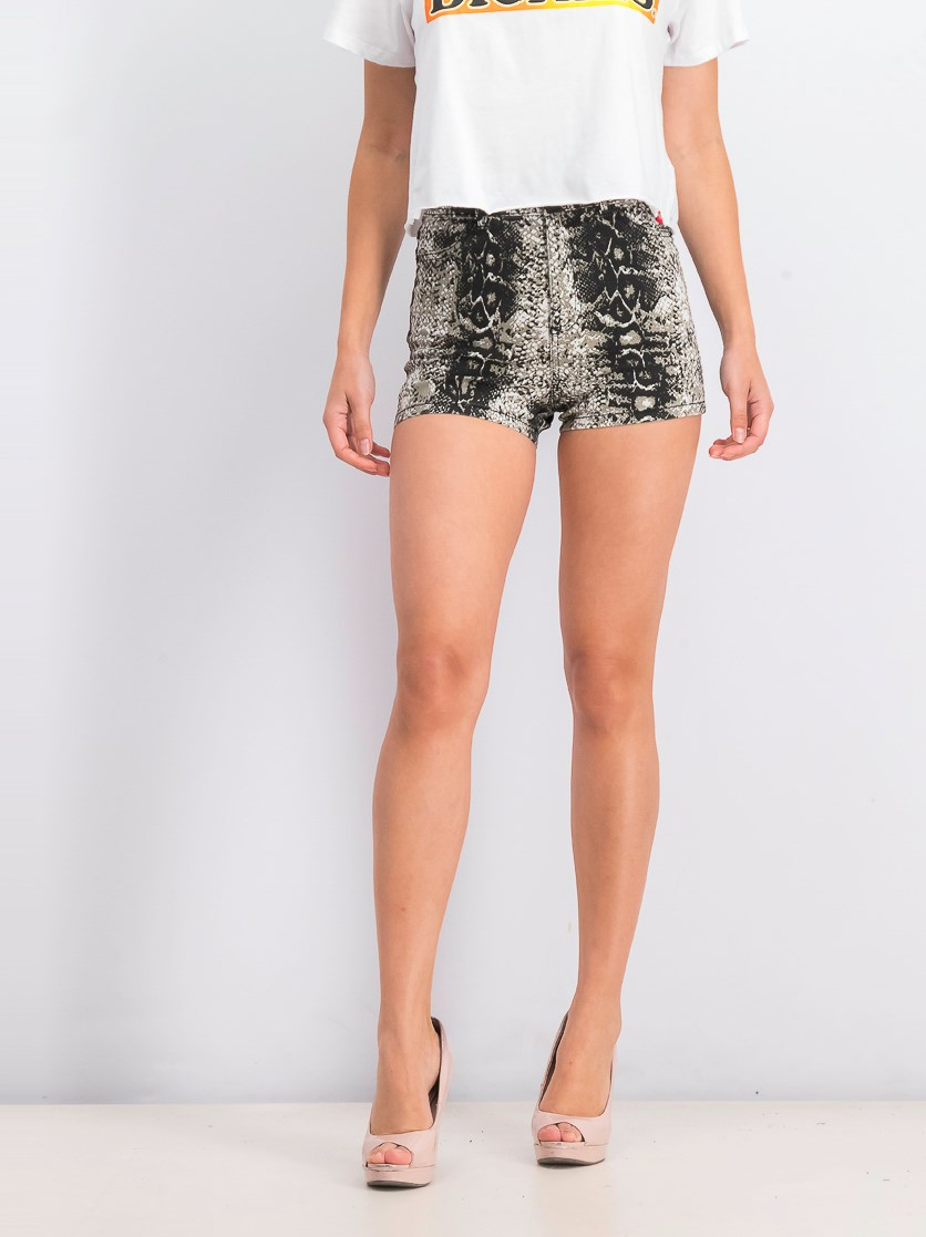 Women's High Waist Short, Black/Grey/White