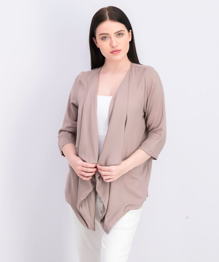 Women's Plain Cardigan, Grey