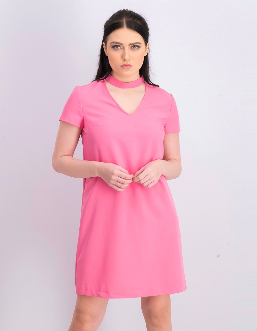 Women's Choker Dress, Pink