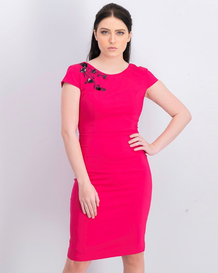 Women's Smart Pencil Dress, Fuchsia