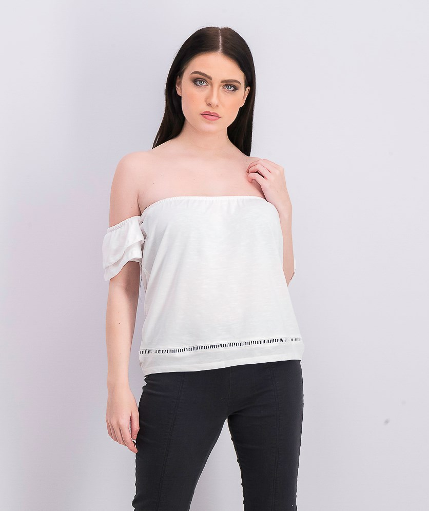 Women's Off The Shoulder Blouse, Off White