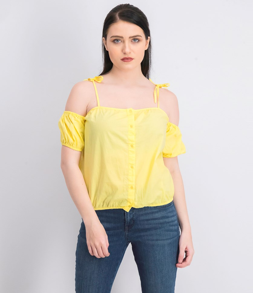 Women's Cold Arms Blouse, Yellow