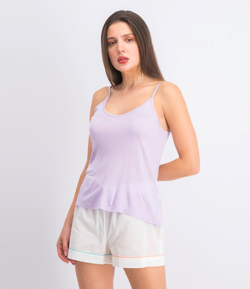 Women's Sleeveless Sleep Top, Light Purple
