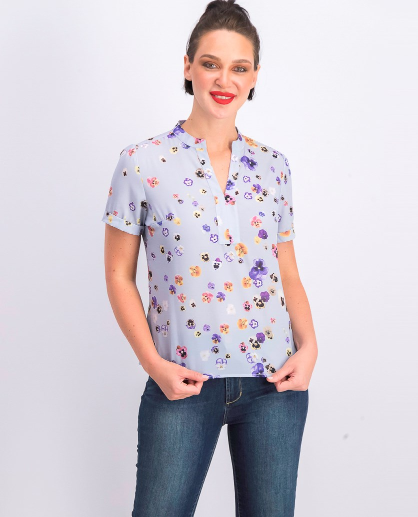 Womens Floral Printed Top, Lavender Combo