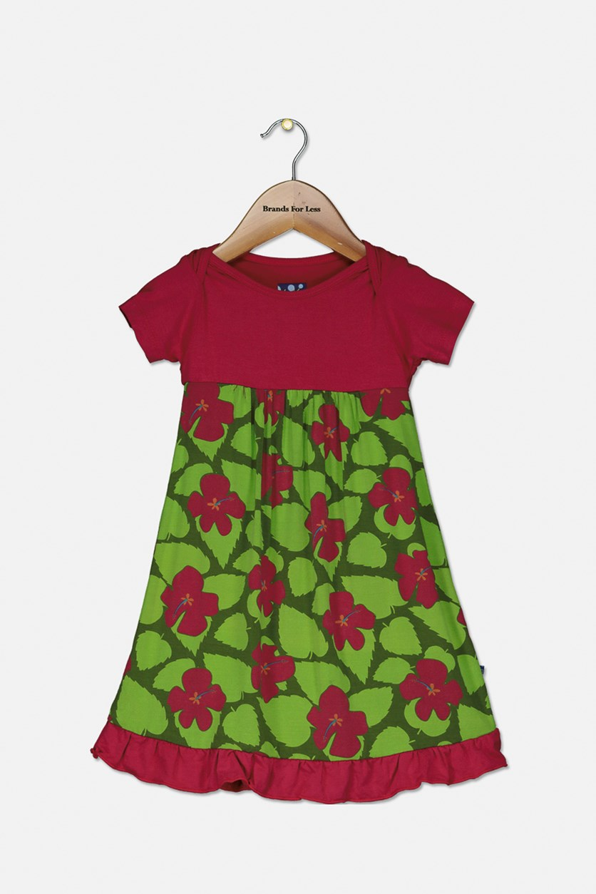 Baby Girl Floral Dress, Pink/Green