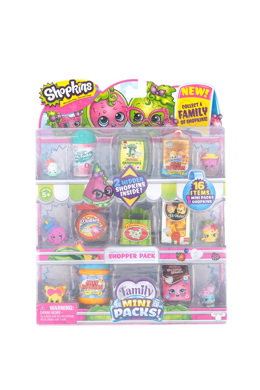 Family Mini Shopper Collector Packs, Pink/Green Combo