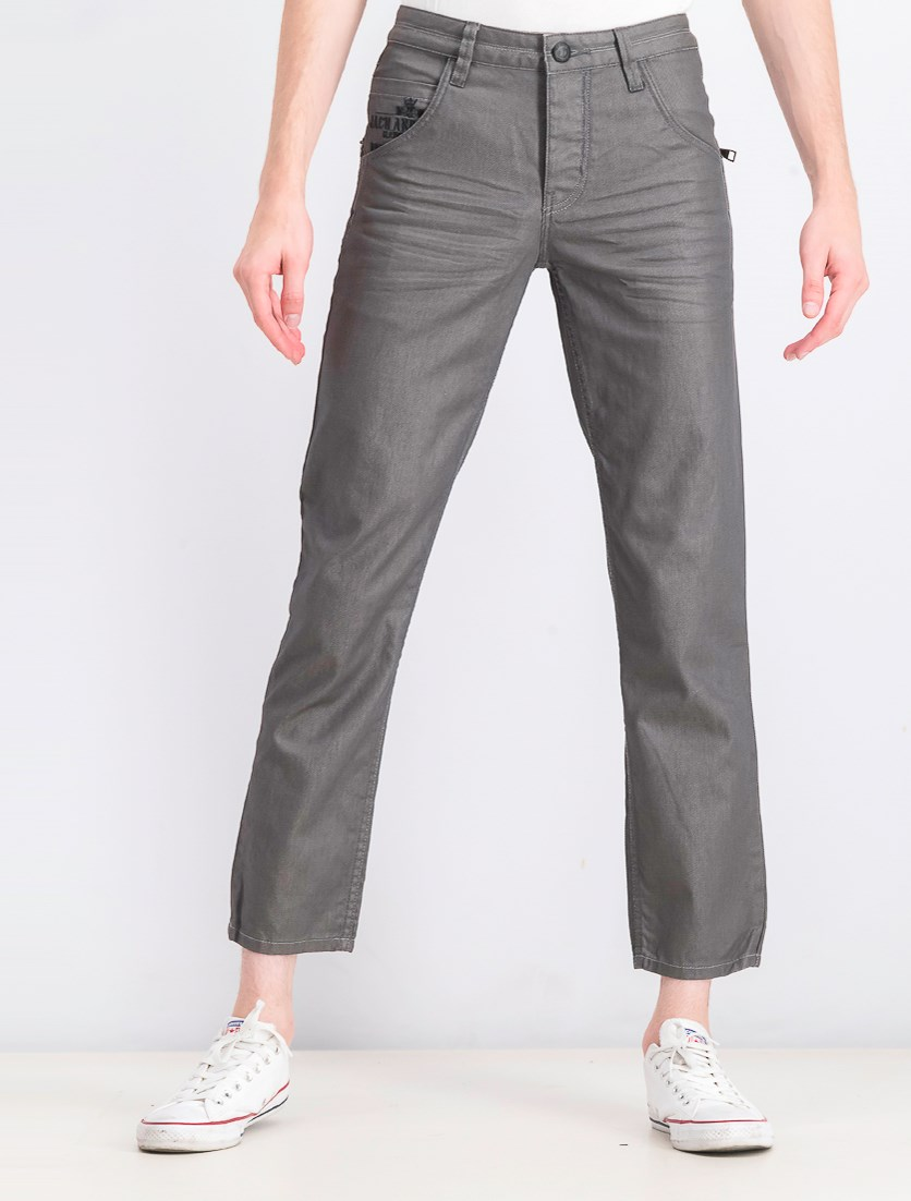 Mens Yanky Barry Jeans, Charcoal