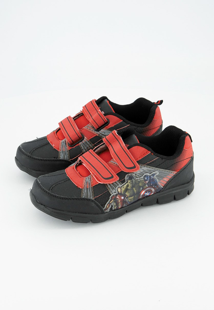Avenger's Graphic Shoes, Black/Red