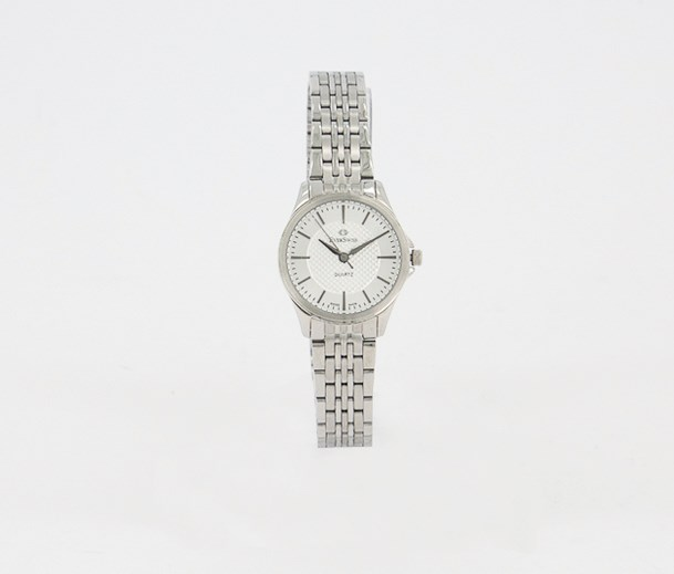 Women's Stainless Round Analog Watch, Silver