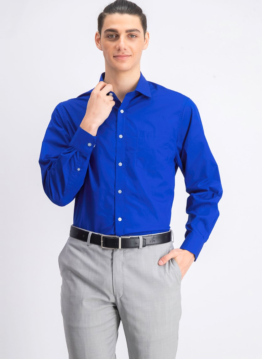 Men's Classic Fit Dress Shirt, Royal Blue