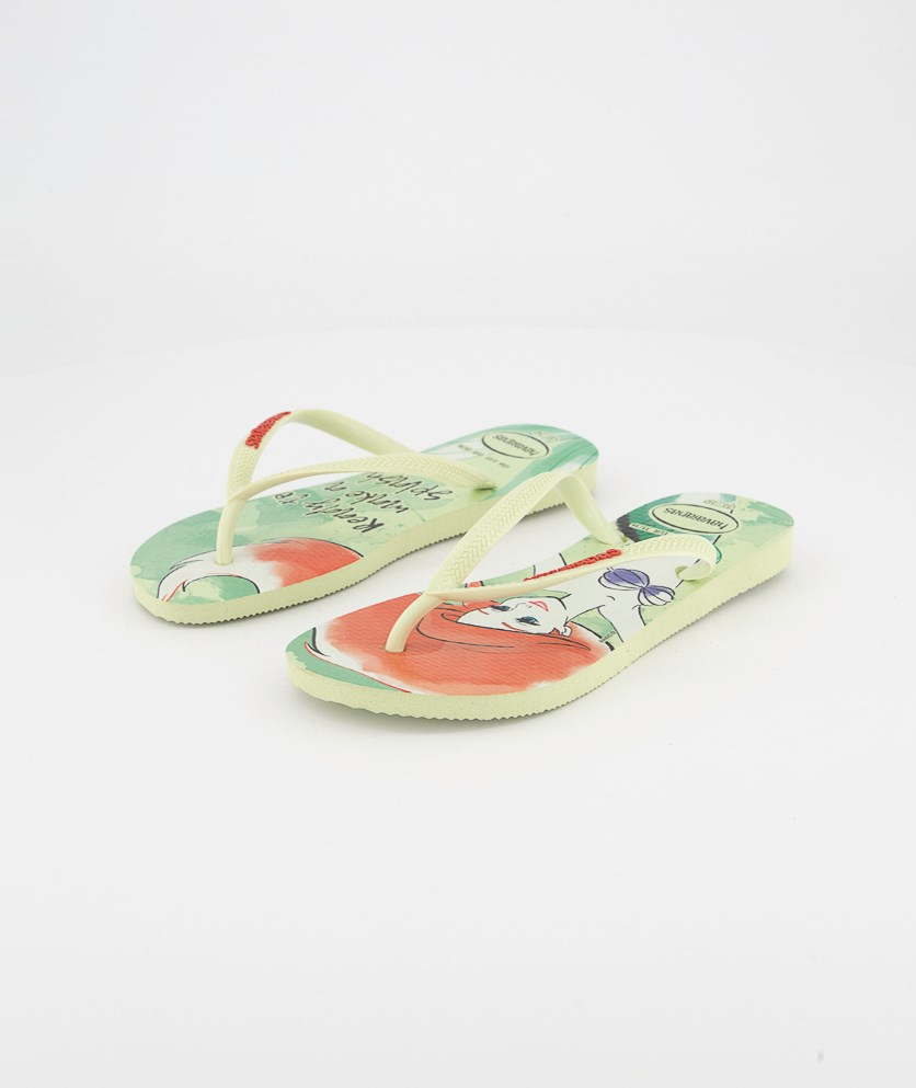 Kids Girls Slim Princess Slipper, Apple Green