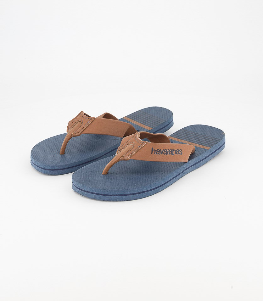 Men's Urban Craft Flip Flops, Indigo/Rust