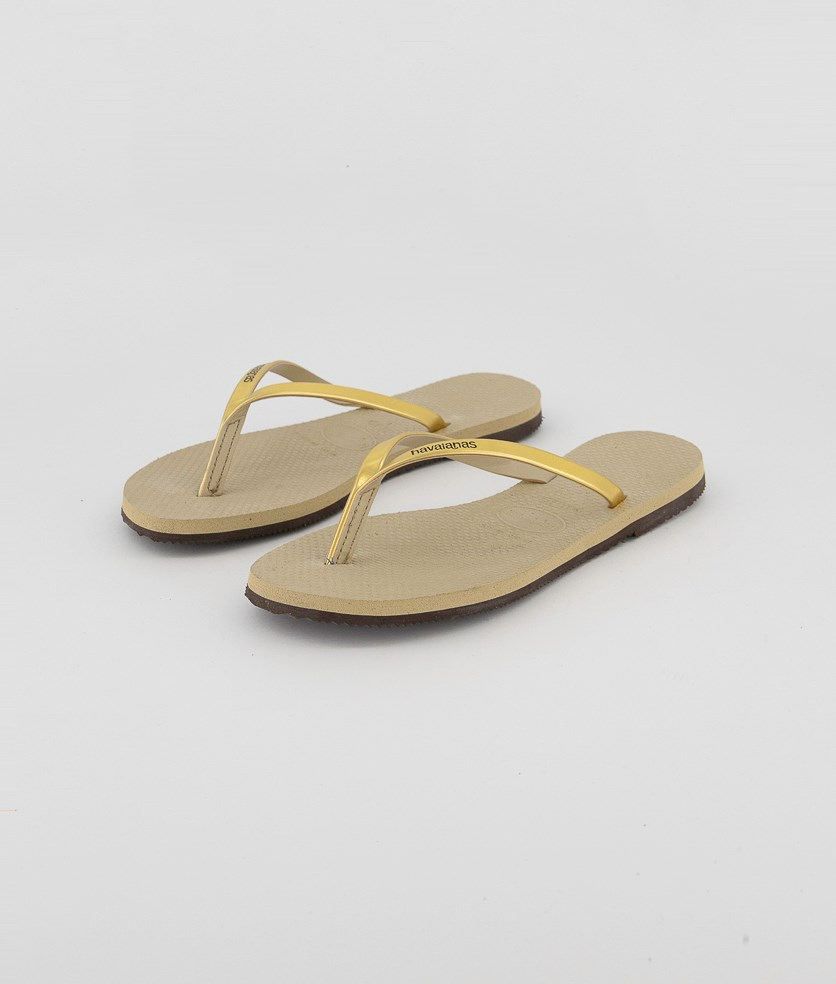 Kids Girls Metallic Strap Flipflops, Sand Grey/Light