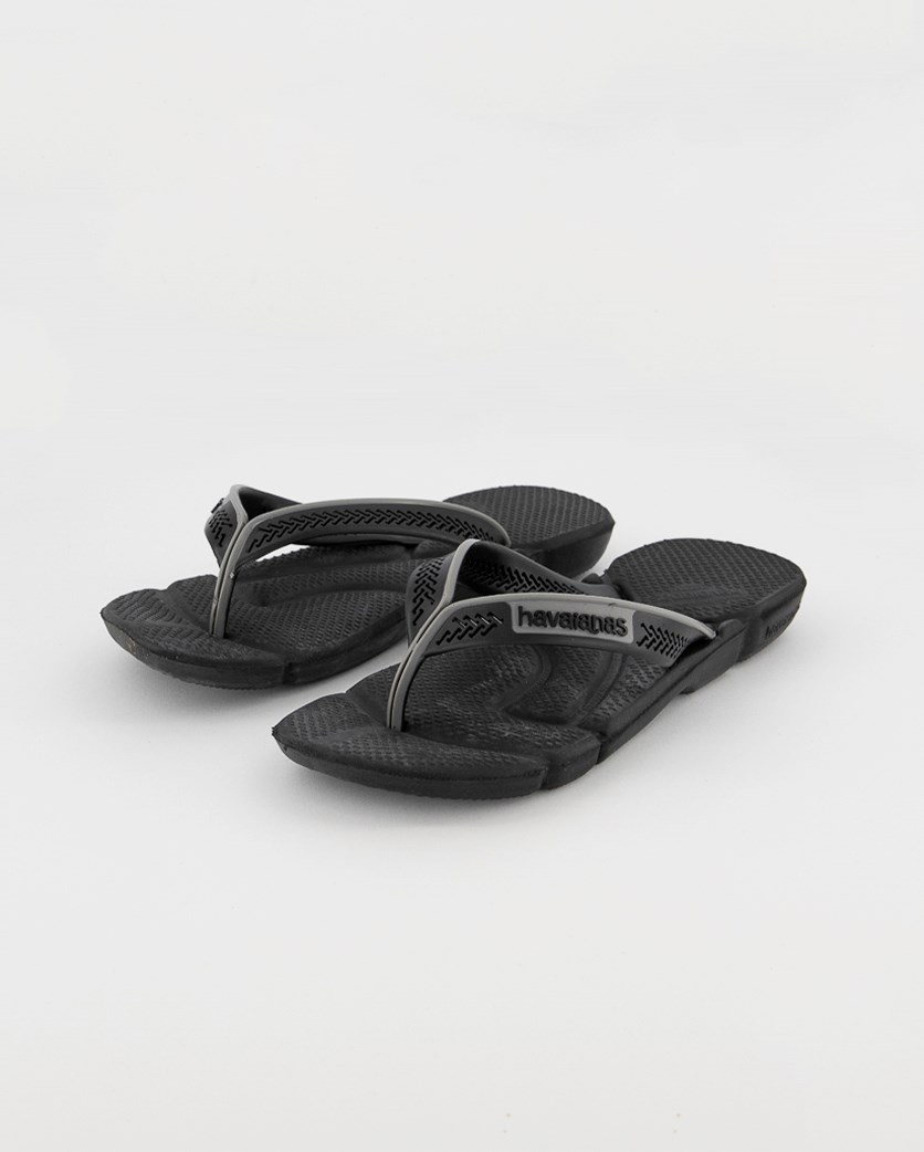 Men's Power Flip Flops, Black/Steel Gray