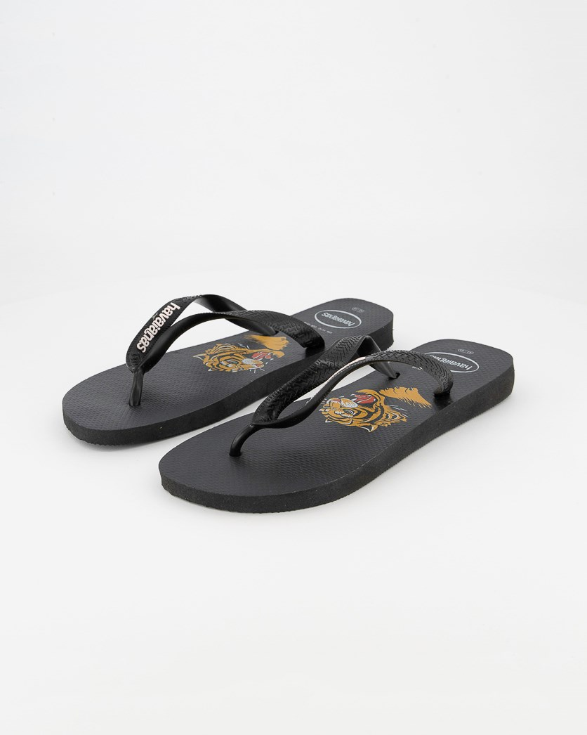 Men's Top Wild Flip Flops, Black