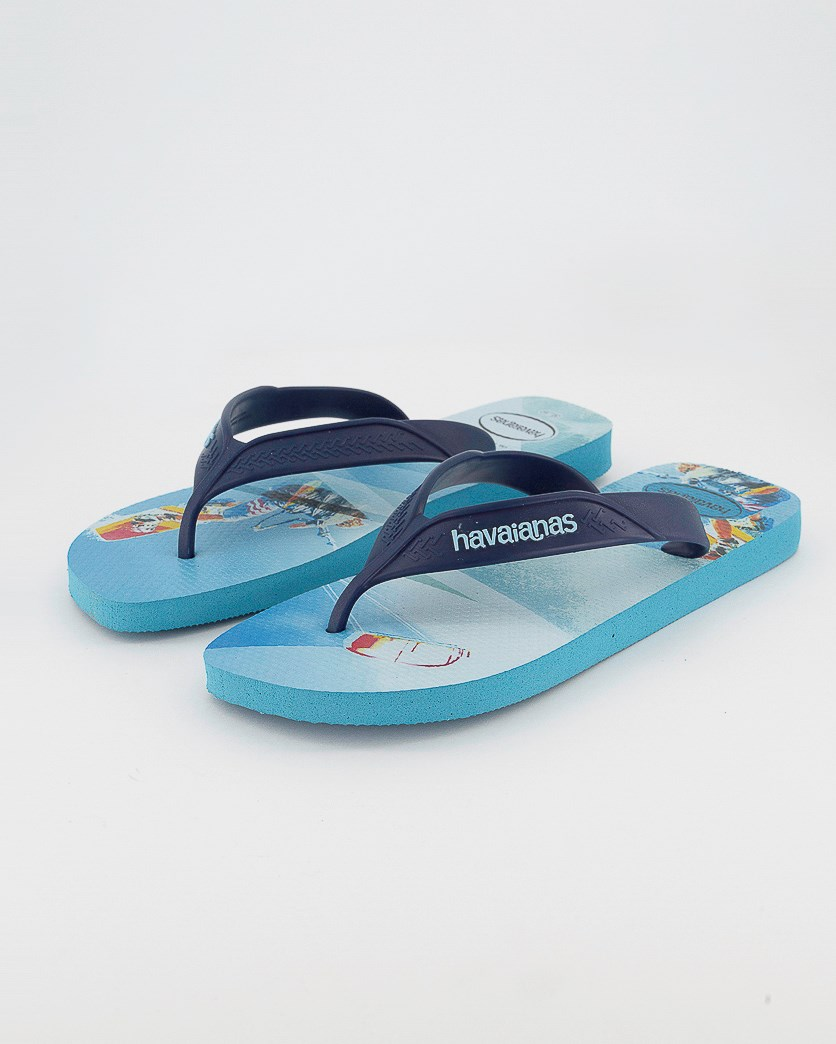 Men's Surf Slippers, Traditional Blue