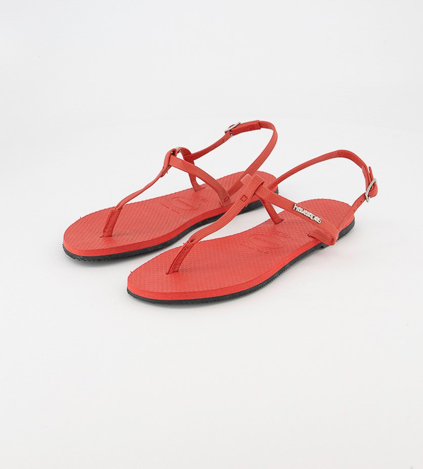 Kids Girls You Riviera  Sandals, Ruby Red