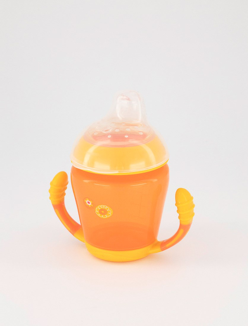 Trainer Cup With Silicon Spout 210 ml, Orange/Yellow