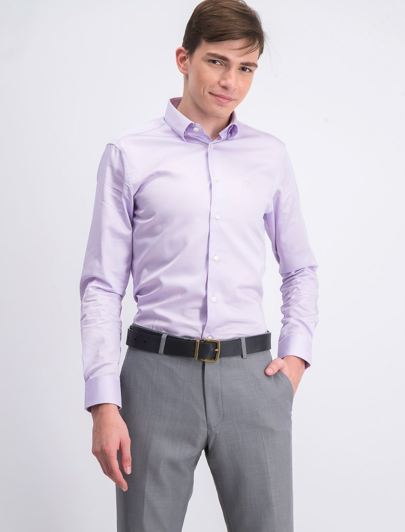 Men's Slim Fit Dress Shirt, Lilac