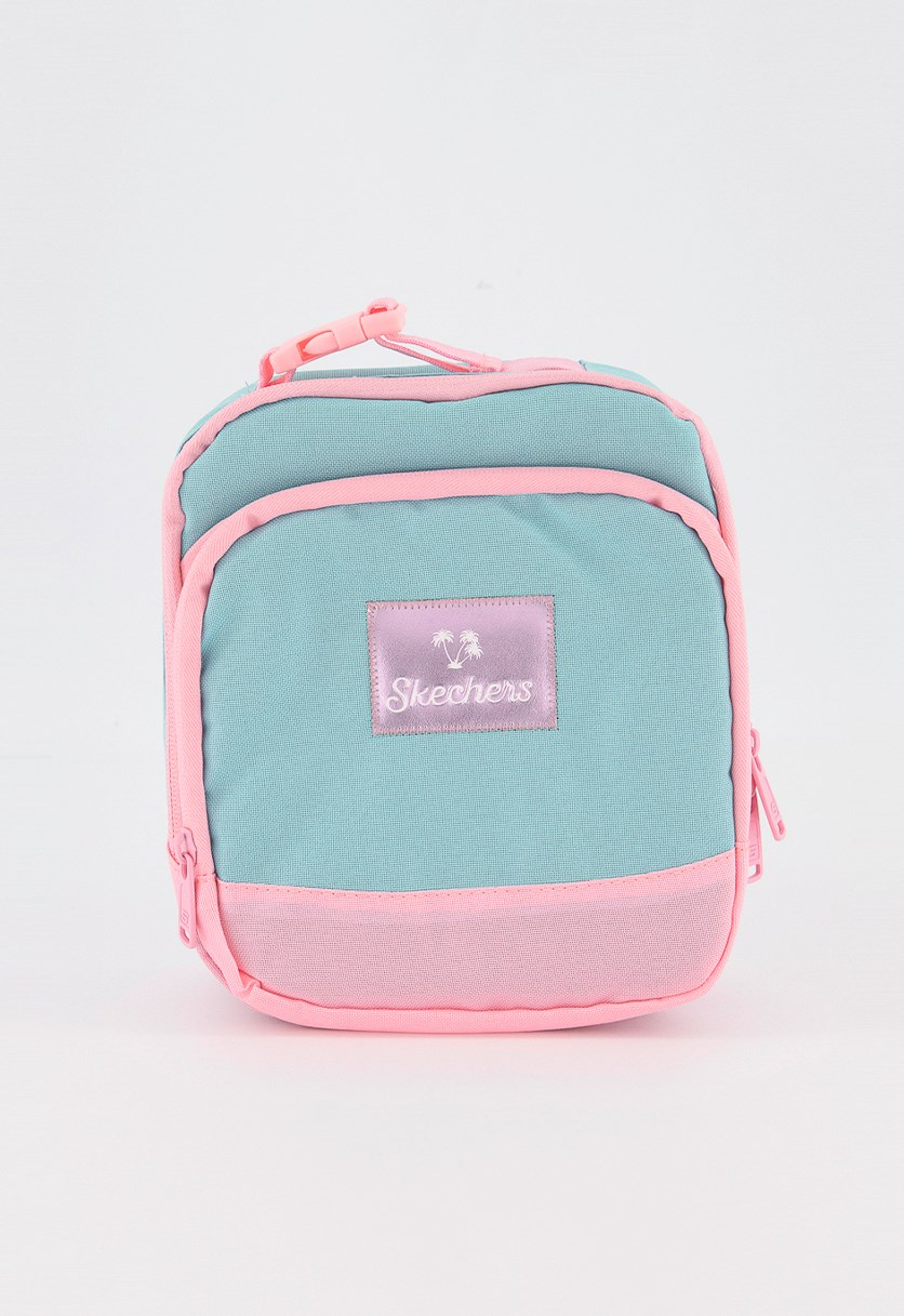 Women's Travel Lunch Bag, Turquoise/Pink