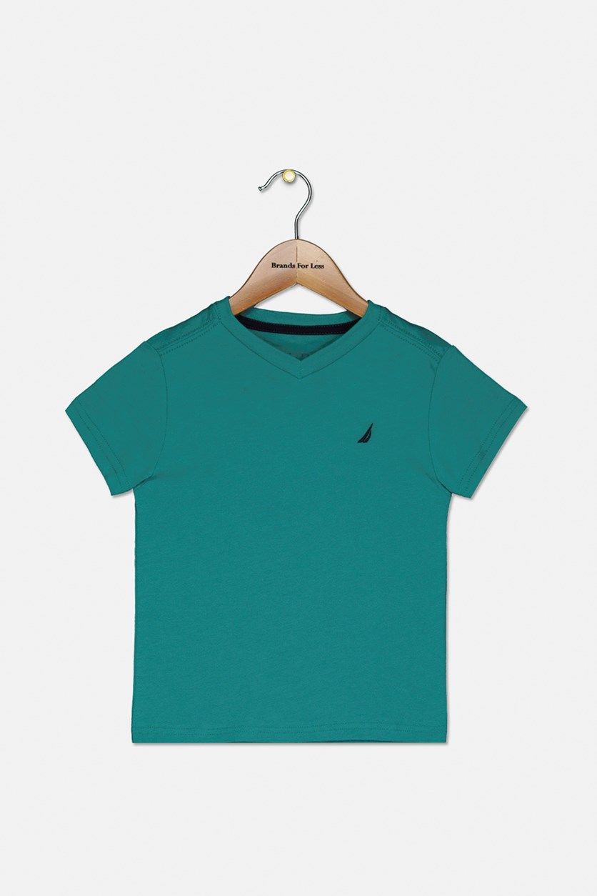 Baby Boy's Embroidered Logo Shirt, Teal