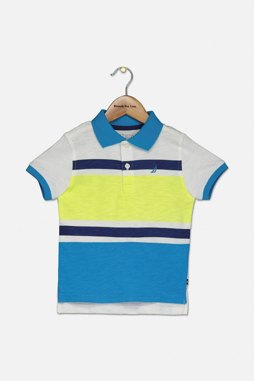 Toddler Boy's Lyle Polo Shirt, Neon Yellow Combo