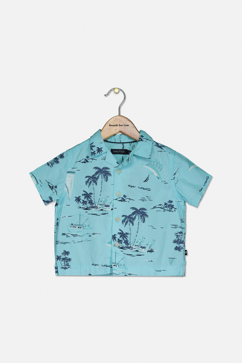 Toddlers Boys Graphic Printed Top, Paradise