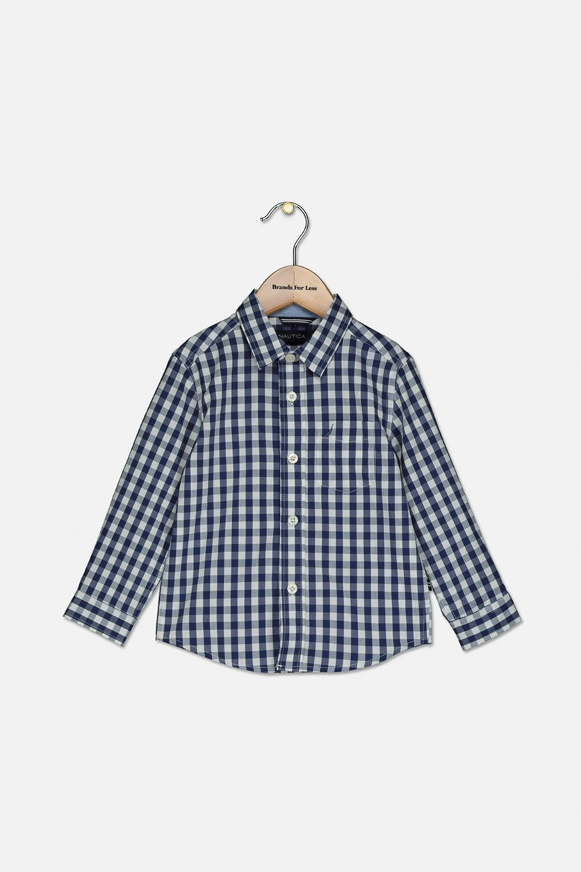 Baby Boy's Plaid Shirt, Tanzanite