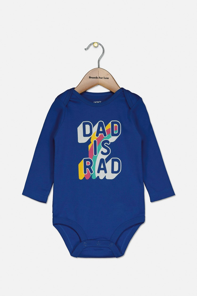 Toddlers Boy's Graphic Print Bodysuit, Blue