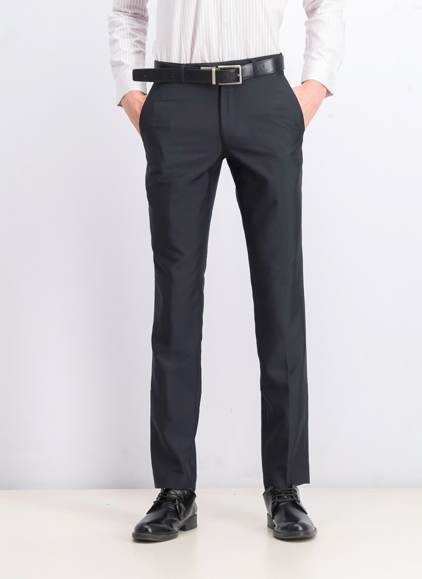 Men's Classic Fit Dress Pants, Charcoal