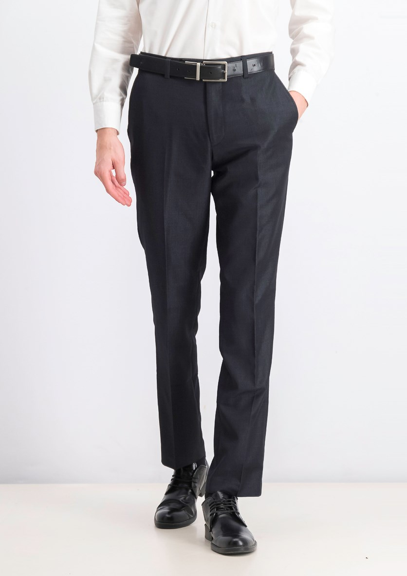 Men's Straight Leg Dress Pants, Charcoal