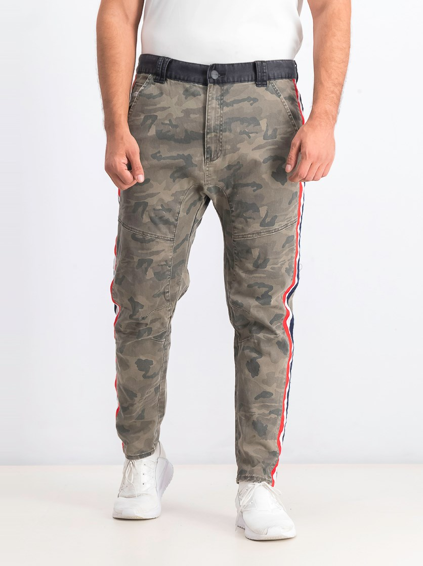Men's Sergeant Camouflage-Print Skinny Fit Pants, Airwolf Camo