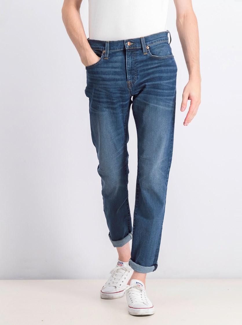 Mens Straight Jeans, Wash Blue
