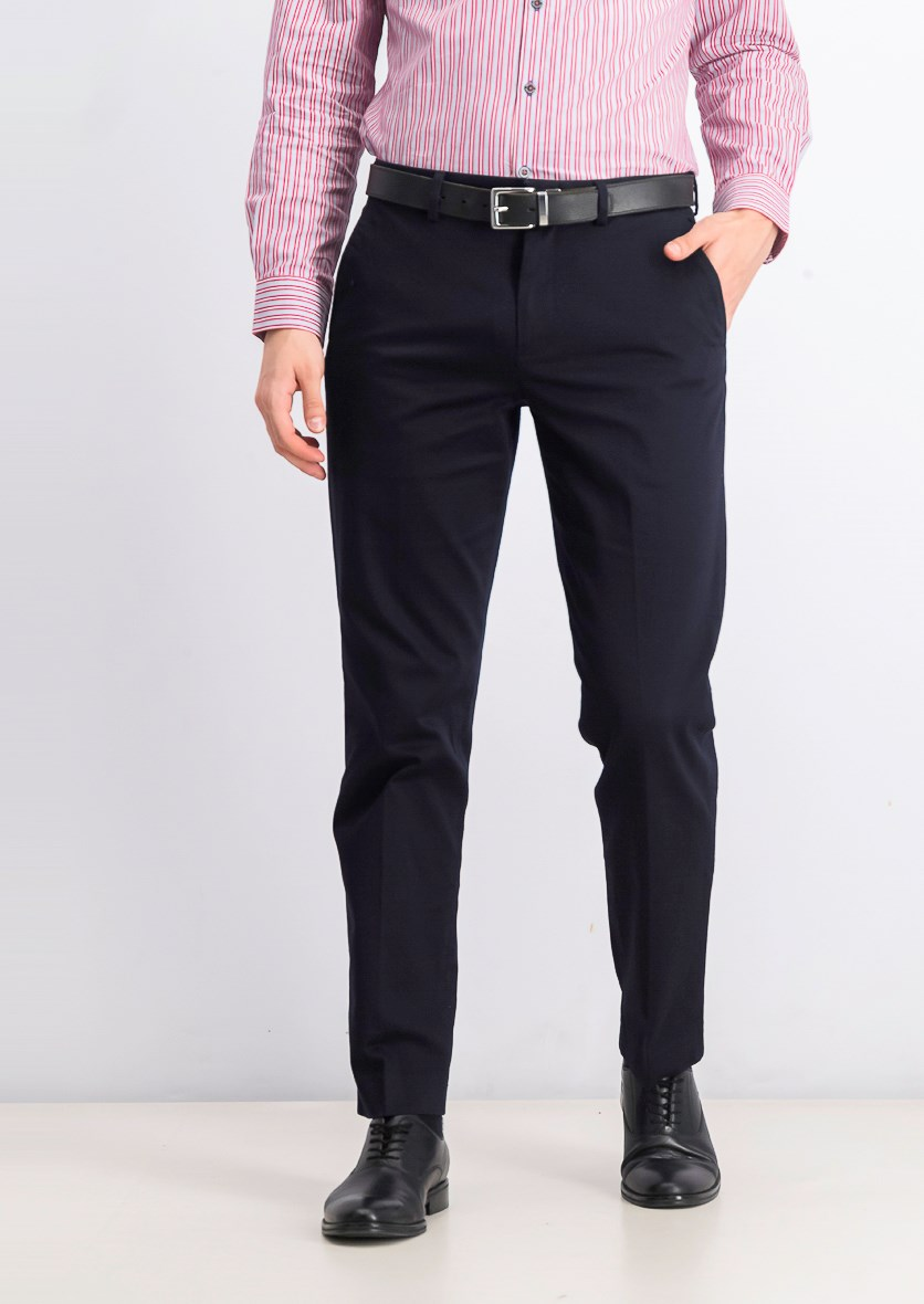 Mens Bowery Slim In Stretch Chino Pants, Black