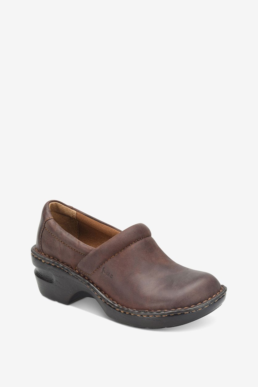 Women's Peggy Clogs Shoes, Dark Brown