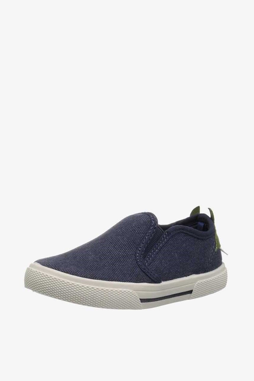 Toddlers Boys Damon7 Fabric Slip On Loafers, Blue