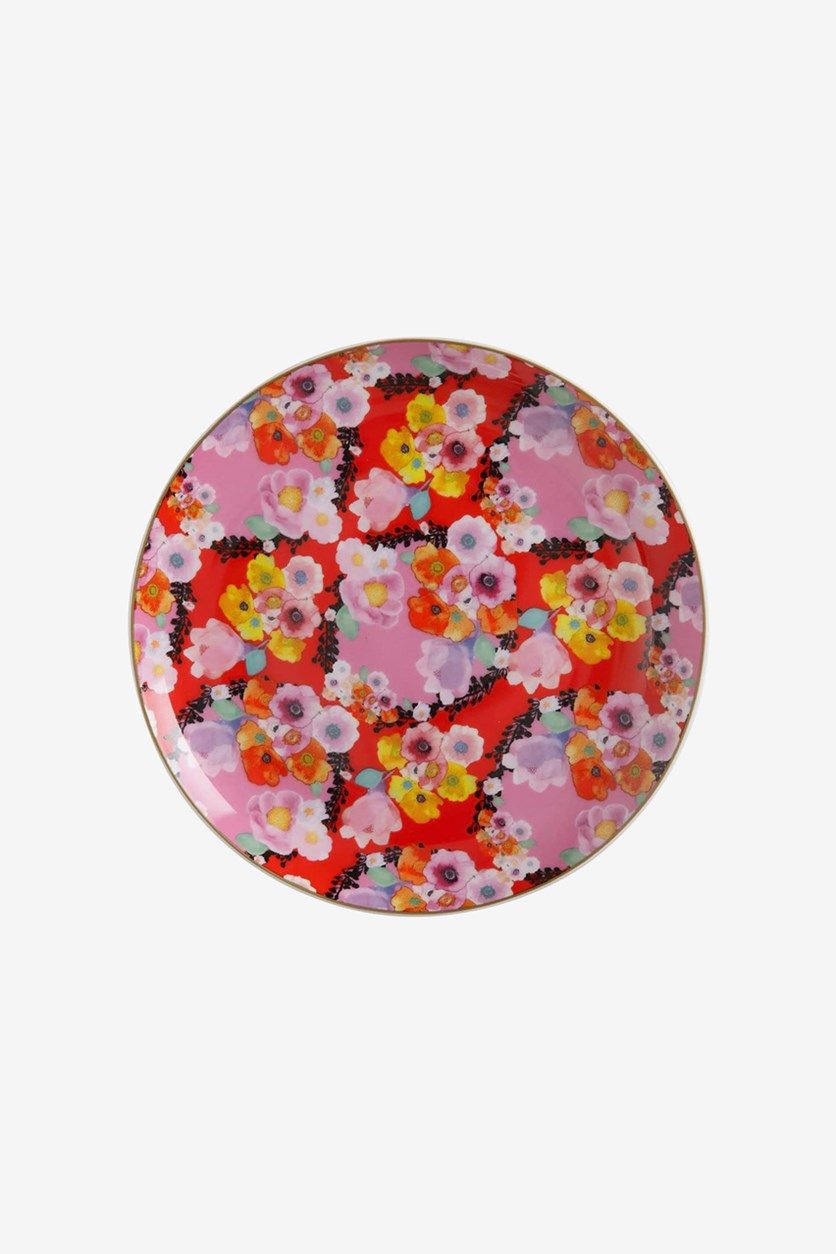 Bloems Plate Red 19cm, Red/Pink