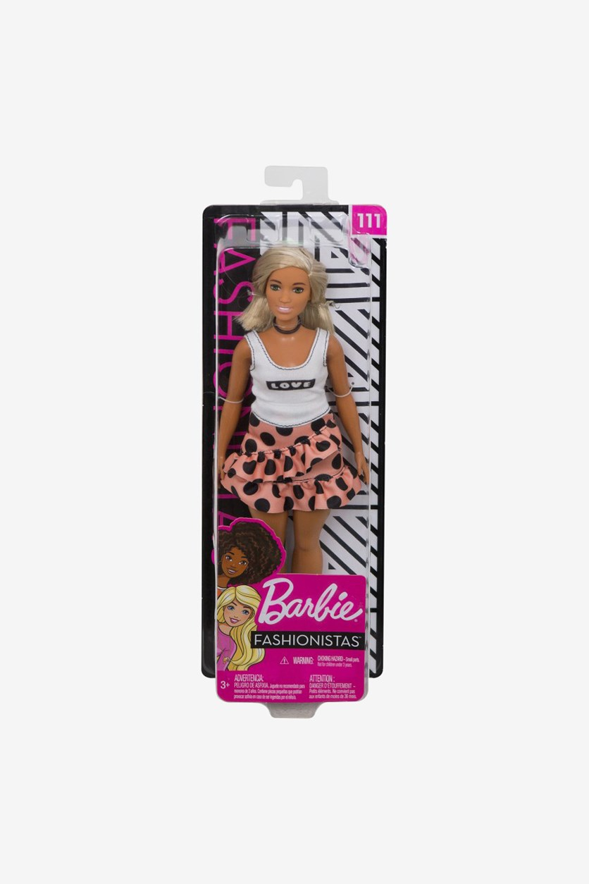 Fashionistas Doll 111, White/Peach/Black