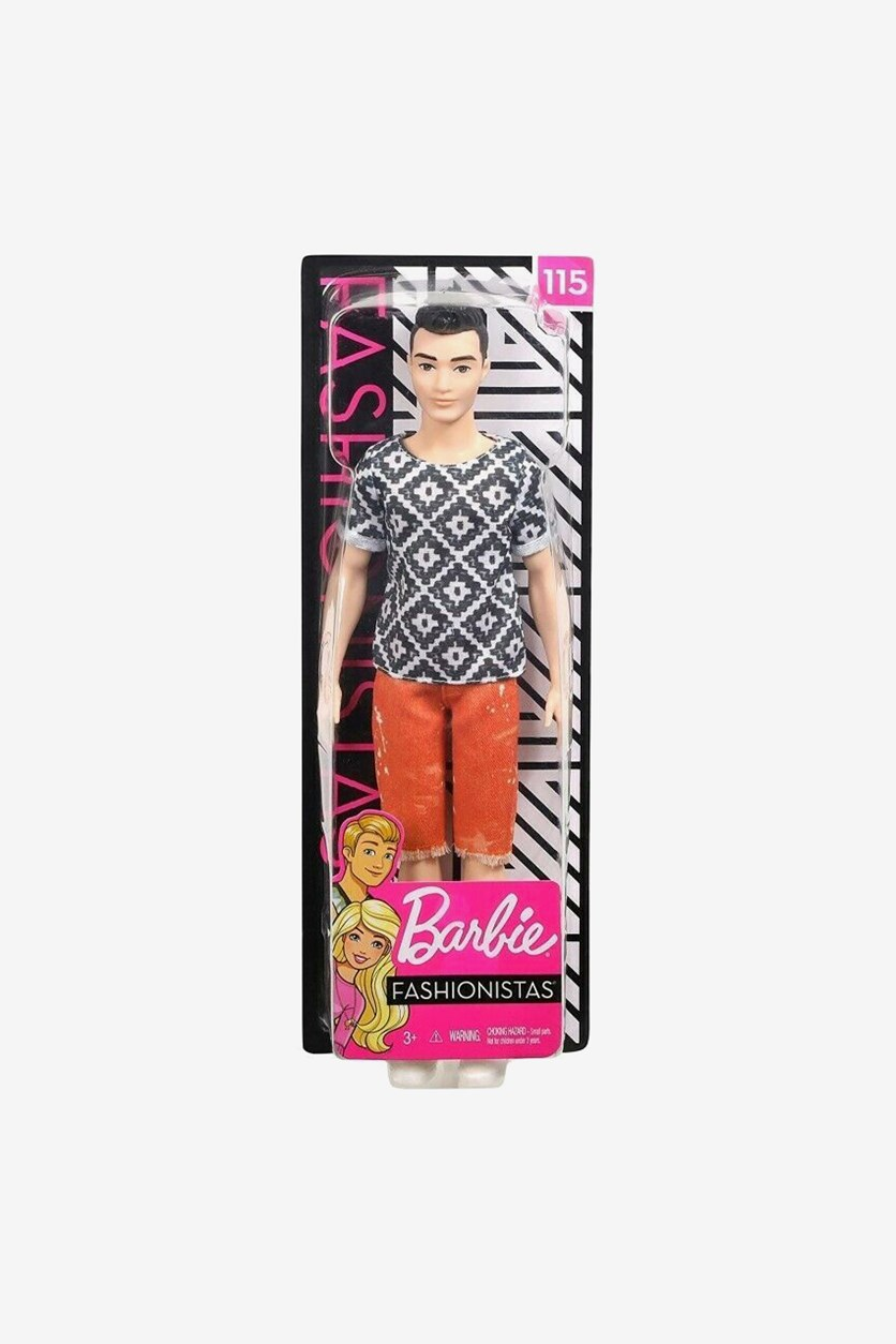 Mattel Ken Fashionistas Doll 115, Black/Orange