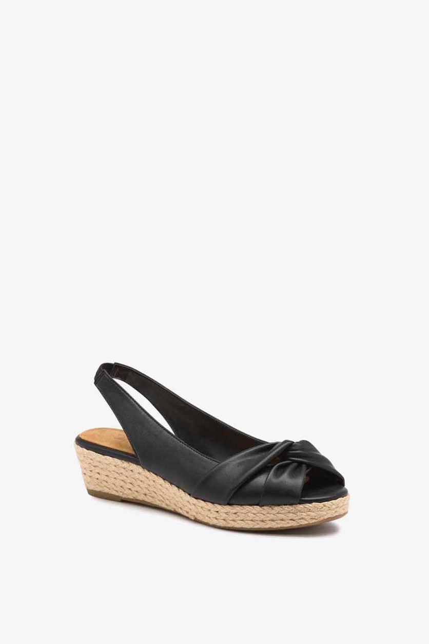 Women's Slip On Natalie Wedges, Black