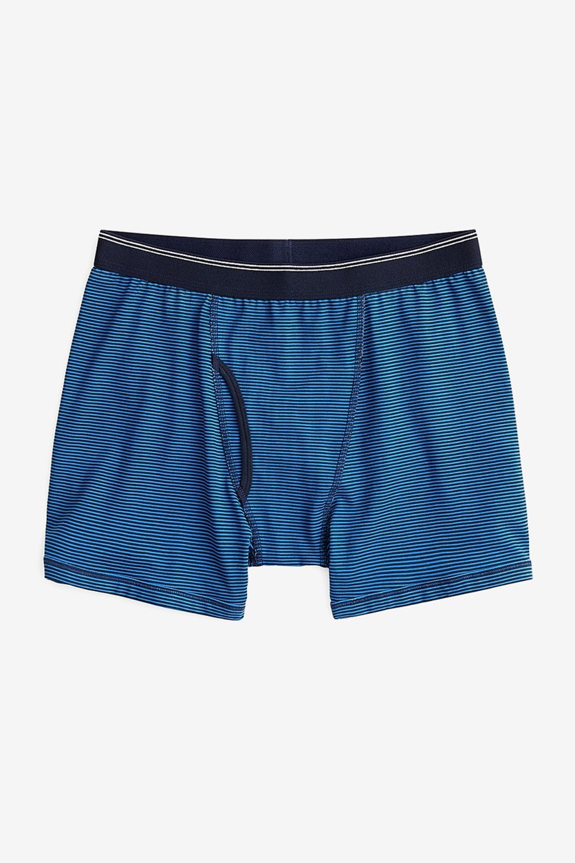 Men's Stripe Boxer Brief, Navy/Blue