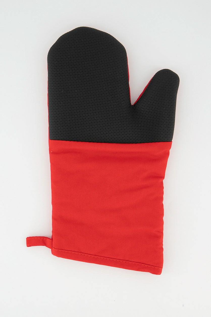 Oven Glove, Red/Black